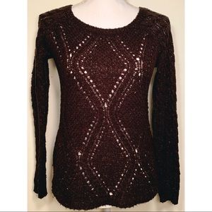 Brown Knit Maurices Sweater